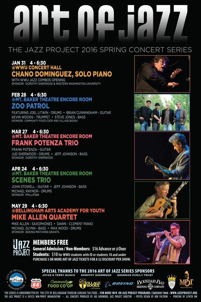 Art of Jazz 2016 POSTER SPRING 1st Half Shows