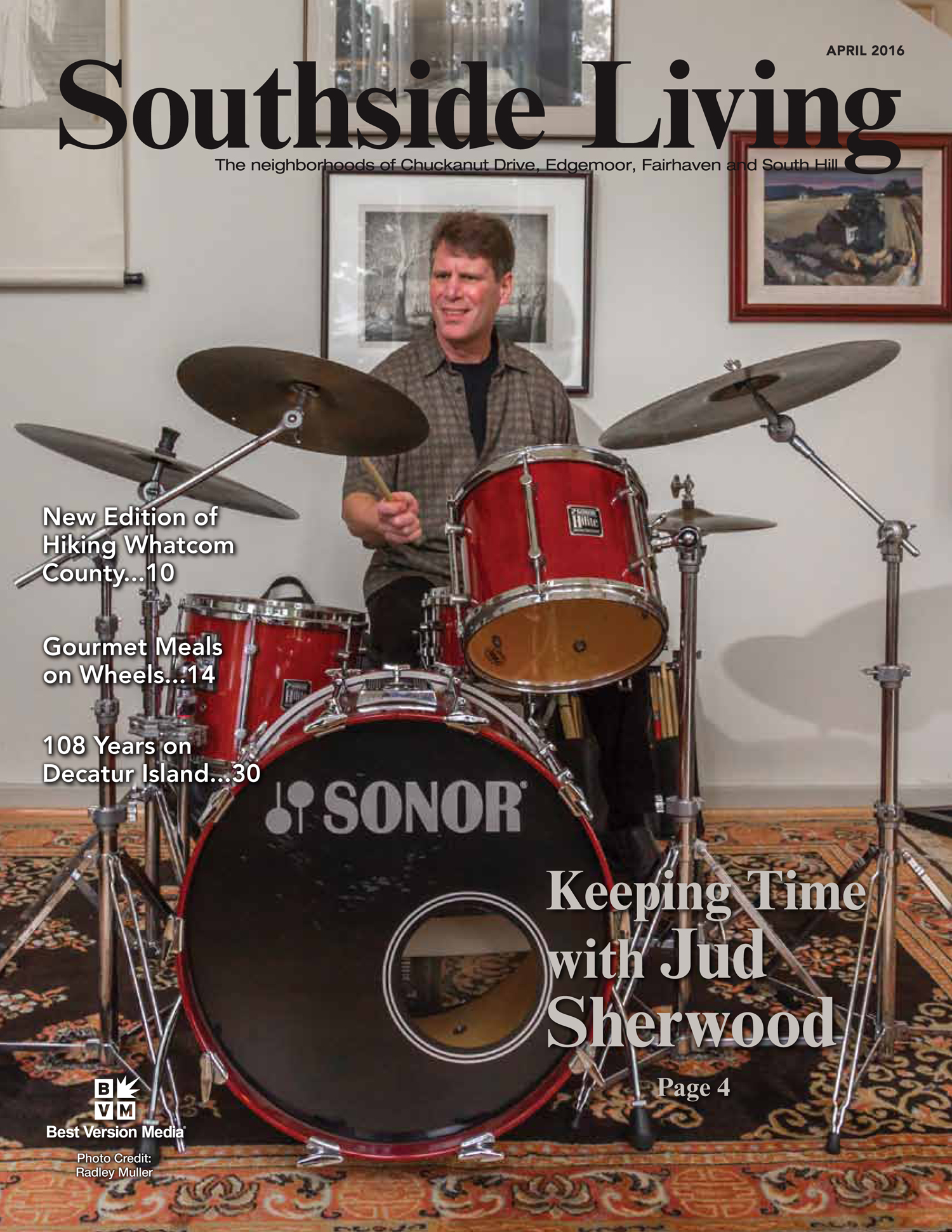 "Jazz Project Southside Living Magazine Article ""Keeping Time With Jud Sherwood"""