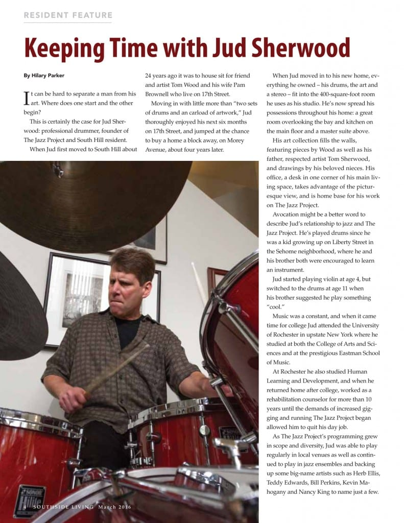 Jazz Project Jud Sherwood SouthsideLivingApril2016 Page1